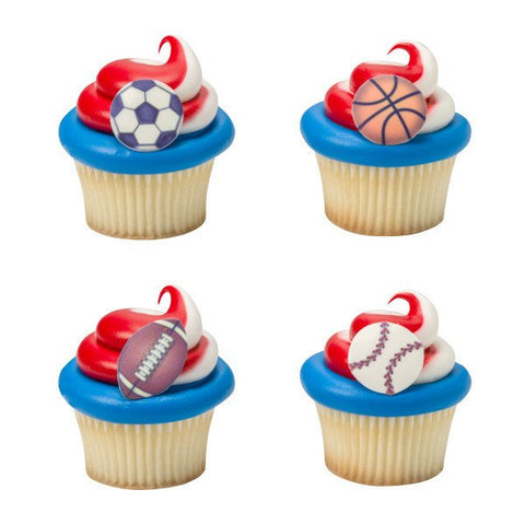 Sports cupcake candies