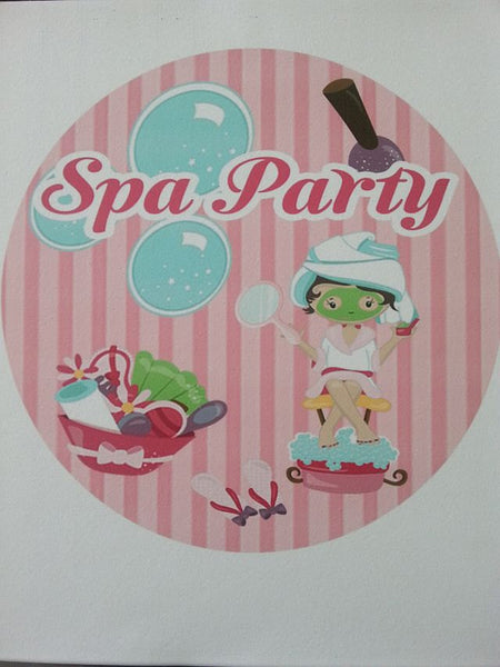 Spa Party cake toppers