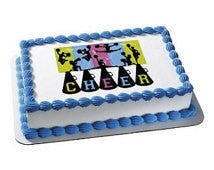 Cheerleading cake topper