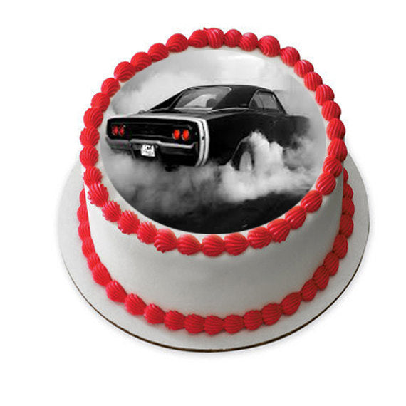 CLASSIC CARS edible cake image, antique car cake, father's ...