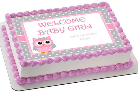 Owl Baby Shower cake topper
