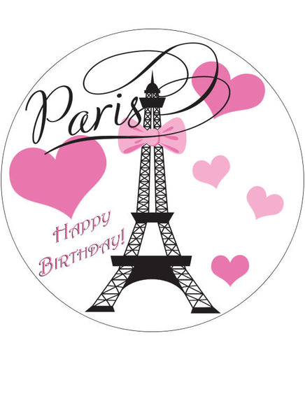 Paris cake topper