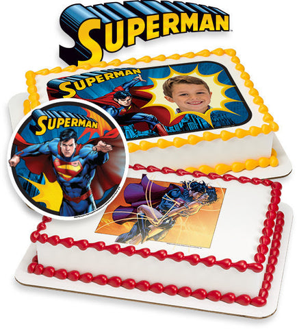 Superman edible image cake topper