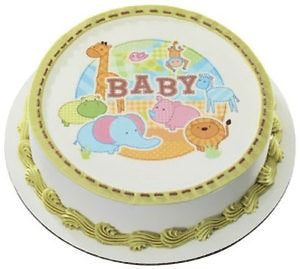 Baby shower edible cake topper