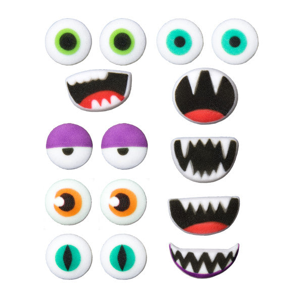 Monster Face parts edible candy toppers