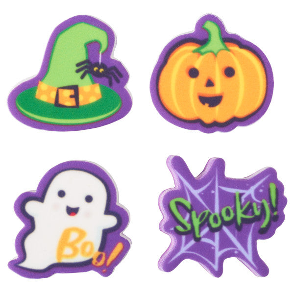 Spooky edible candy toppers