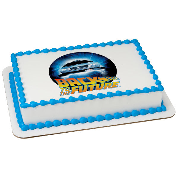 Back to the Future cake topper