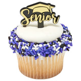 Graduation cupcake picks and rings
