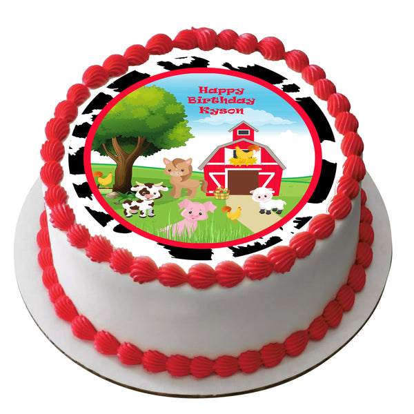 Baby farm animals cake topper