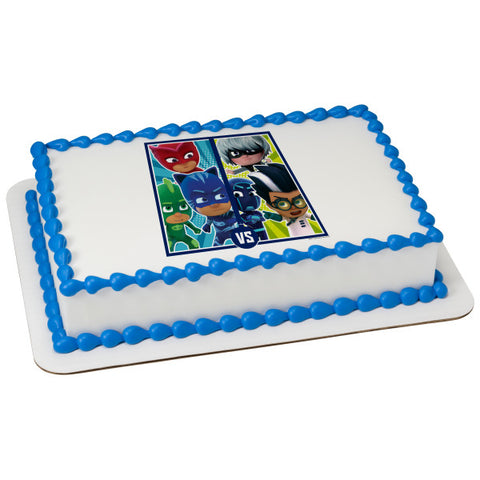 PJ MASKS edible cake and cupcake toppers