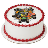 Monster Jam edible cake and cupcake toppers