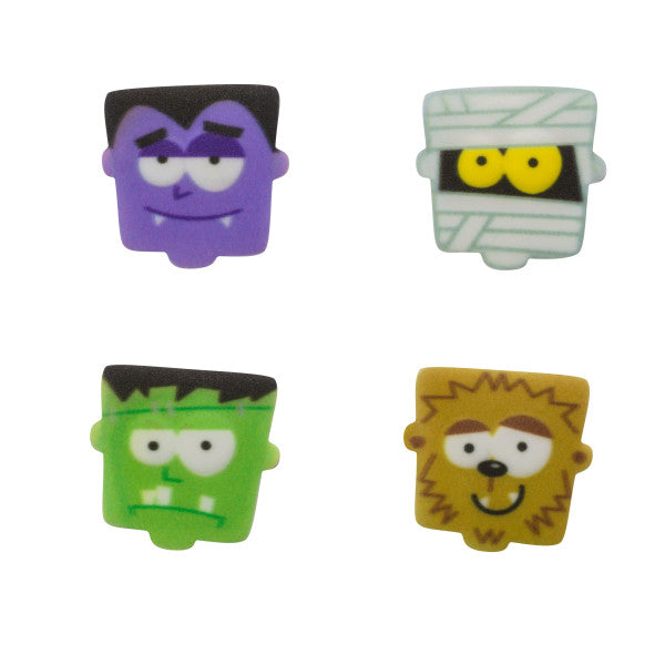 Monster Faces edible candy toppers