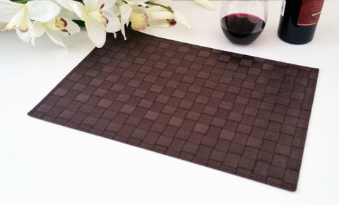 Charming Heat Resistant, Non Slip Insulation Placemat, Cross Weave, PVC Table Mats