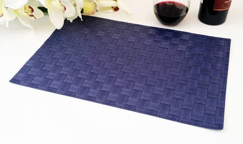 Attractive Heat Resistant, Non Slip Insulation Placemat, Cross Weave, PVC Table Mats