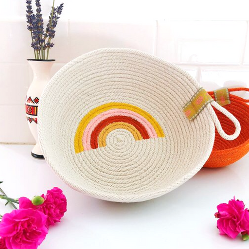 Handmade Cotton Rope Basket