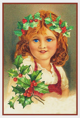 Girl with Holly