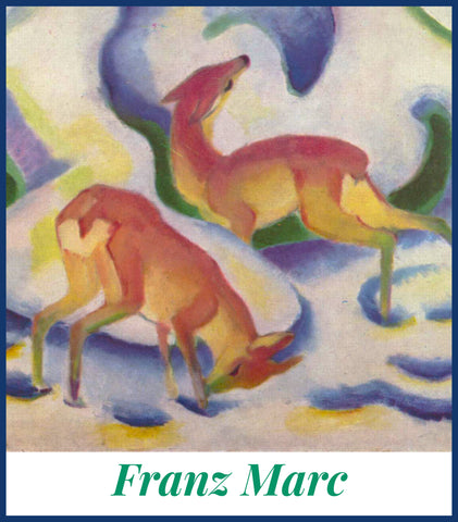 Orenco Originals Two Foxes Sketch Franz Marc Counted Cross Stitch Pattern