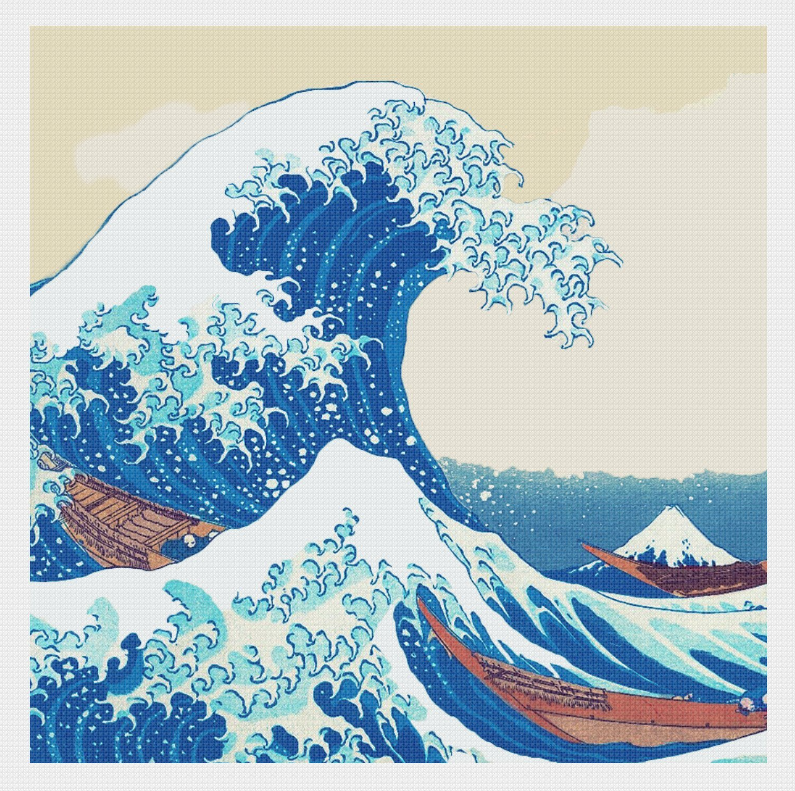Great Wave - Square 14x14