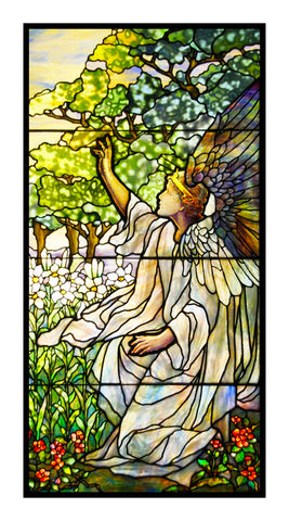Heavenly Angel detail inspired by Louis Comfort Tiffany  Counted Cross Stitch or Counted Needlepoint Pattern
