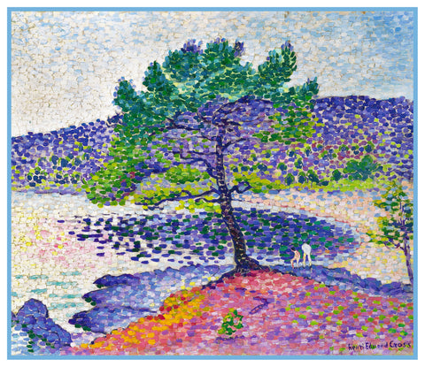 Henri-Edmond Cross Beach at St Clair France Orenco Originals Counted Cross Stitch Pattern