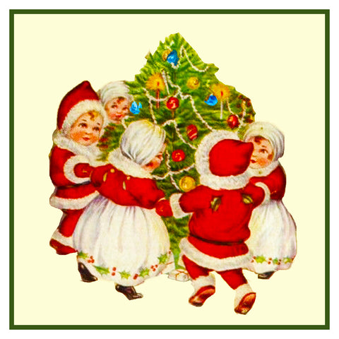 Vintage Christmas Santa Helpers Nimble Nicks # 7 Counted Cross Stitch Pattern
