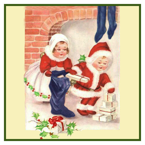Vintage Christmas Santa Helpers Nimble Nicks # 2 Counted Cross Stitch Pattern