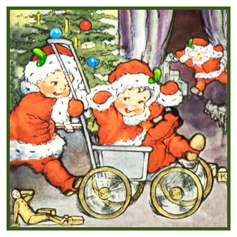 Vintage Christmas Santa Helpers Nimble Nicks # 22 Counted Cross Stitch Pattern