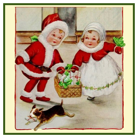 Vintage Christmas Santa Helpers Nimble Nicks # 3 Counted Cross Stitch Pattern