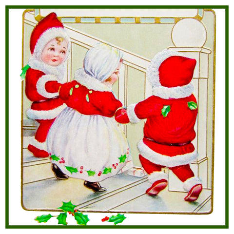 Vintage Christmas Santa Helpers Nimble Nicks # 4 Counted Cross Stitch Pattern