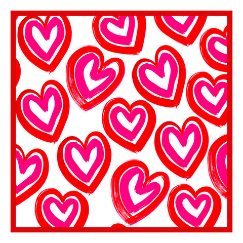 Contemporary Valentine Concentric Colorful Hearts Sew So Simple ™ Counted Cross Stitch or Counted Needlepoint Pattern