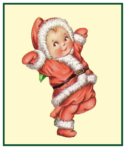 Vintage Christmas Santa Helpers the Original Nimble Nick Counted Cross Stitch Pattern