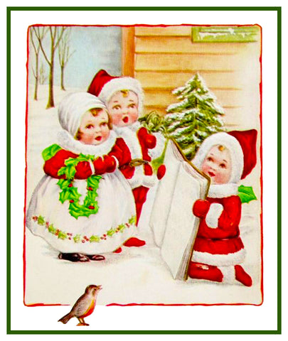 Vintage Christmas Santa Helpers Nimble Nicks # 5 Counted Cross Stitch Pattern