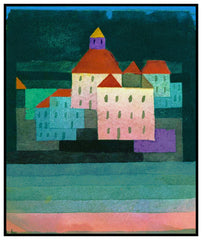A Little Memory of Nymphenburg by Expressionist Artist Paul Klee Counted Cross Stitch or Counted Needlepoint Pattern