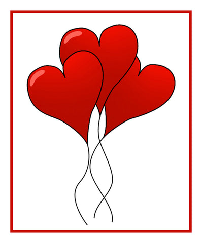 Contemporary Valentine Heart Balloons Bow Sew So Simple Counted Cross Stitch Pattern
