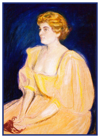 Portrait of Selma Fontheim by Symbolist Artist Edvard Munch Counted Cross Stitch or Counted Needlepoint Pattern