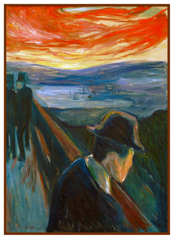 Despair at Sunset by Symbolist Artist Edvard Munch Counted Cross Stitch Chart Pattern DIGITAL DOWNLOAD