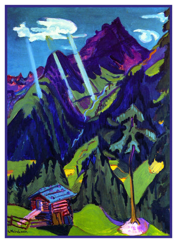 Landscape in the Sun by Ernst Ludwig Kirchner Counted Cross Stitch Pattern DIGITAL DOWNLOAD