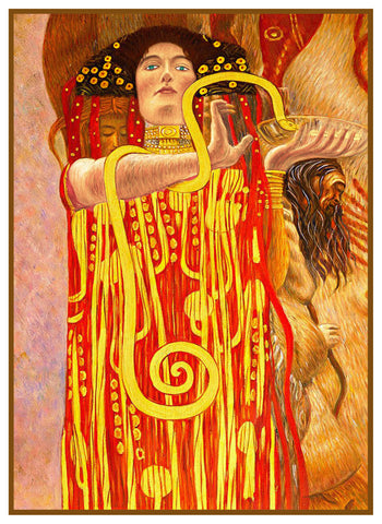 Art Nouveau Artist Gustav Klimt's Hygeia Counted Cross Stitch Pattern