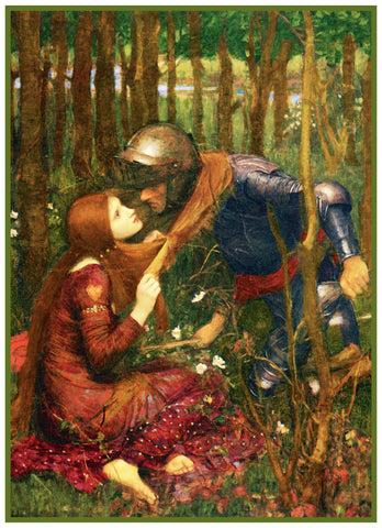 Belle Dame Sans Merci inspired by John William Waterhouse Counted Cross Stitch Pattern