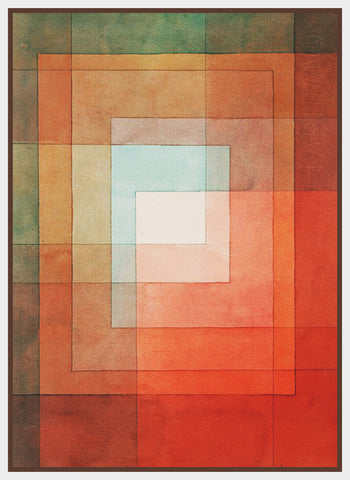 White Framed Polyphonically by Expressionist Artist Paul Klee Counted Cross Stitch Pattern