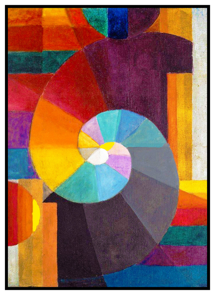 The Beginning by Expressionist Artist Paul Klee Counted Cross Stitch Pattern