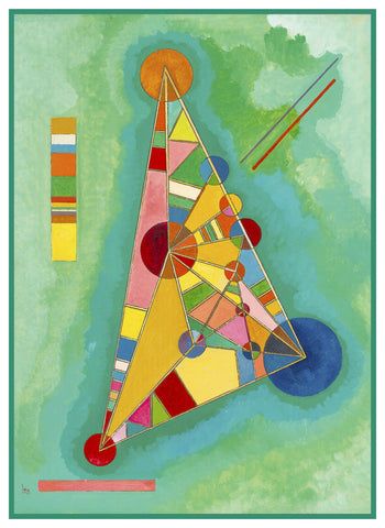 Happy Triangles by Artist Wassily Kandinsky Counted Cross Stitch or Counted Needlepoint Pattern
