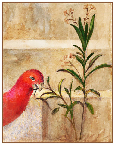 The Parrot and the Plant by John Ruskin Counted Cross Stitch or Counted Needlepoint Pattern
