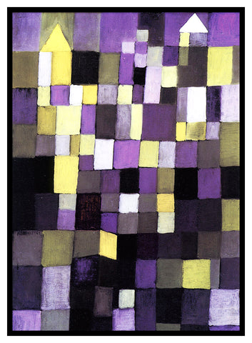 Architecture by Expressionist Artist Paul Klee Counted Cross Stitch Pattern