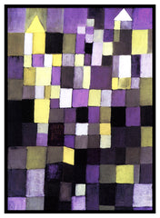 Architecture by Expressionist Artist Paul Klee Counted Cross Stitch or Counted Needlepoint Pattern