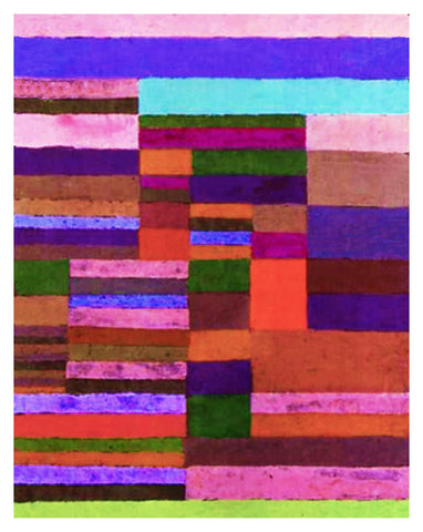 Altimetry of Stripes by Expressionist Artist Paul Klee Counted Cross Stitch or Counted Needlepoint Pattern