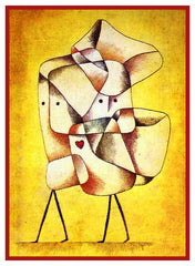 Siblings by Expressionist Artist Paul Klee Counted Cross Stitch or Counted Needlepoint Pattern