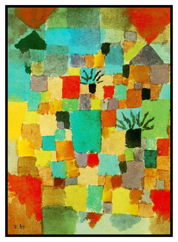 Southern Tunisian Gardens by Expressionist Artist Paul Klee Counted Cross Stitch Pattern