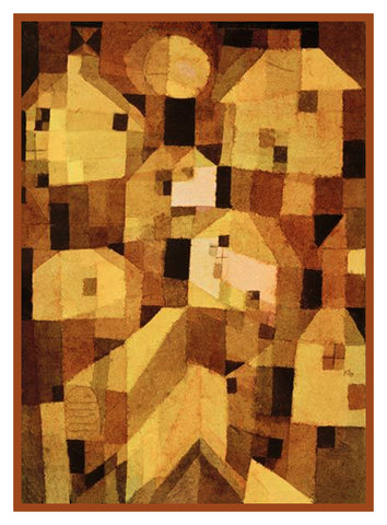 Autumnal Place by Expressionist Artist Paul Klee Counted Cross Stitch Pattern