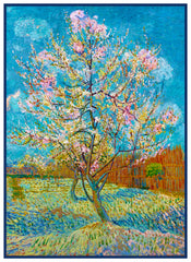 Pink Peach Tree by Impressionist Artist Vincent Van Gogh Counted Cross Stitch Pattern DIGITAL DOWNLOAD